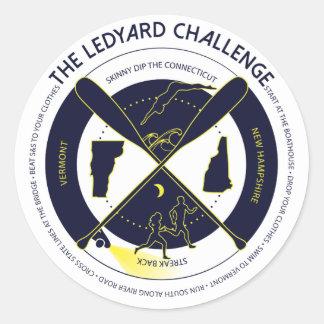 Ledyardの挑戦ステッカー ラウンドシール