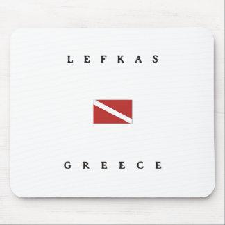 Lefkasギリシャのスキューバ飛び込みの旗 マウスパッド
