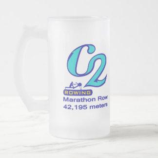 Leftysのためのマラソンのマグ フロストグラスビールジョッキ