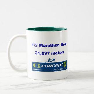 Leftysのための1/2のマラソンのマグ ツートーンマグカップ