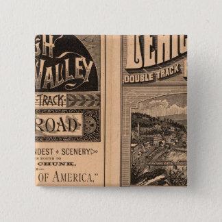 Lehighの谷の鉄道 5.1cm 正方形バッジ