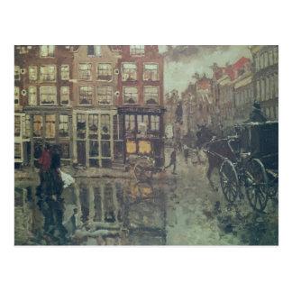 Leidscheスクエア、アムステルダムのコーナー ポストカード