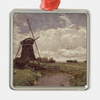 Leidschendamの風車 メタルオーナメント