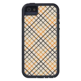 Leightonの灰色および黄色の格子縞 iPhone SE/5/5s ケース