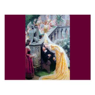 leightonキスの中世女性のキスをするな人 ポストカード