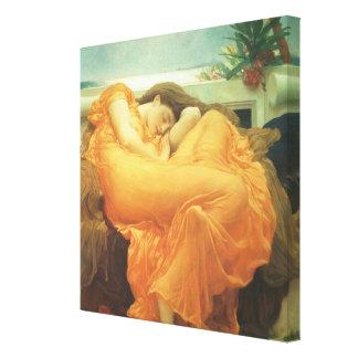 Leighton著6月を炎にあてるヴィンテージのビクトリアンな芸術 キャンバスプリント