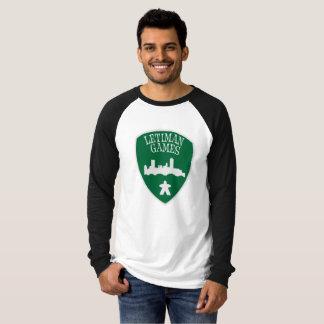 Leitmanのゲームの人の長袖の野球のTシャツ Tシャツ