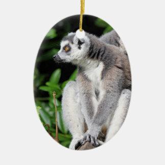 Lemurによってリング後につかれるかわいい写真のぶら下がったなオーナメント セラミックオーナメント