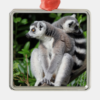 Lemurによってリング後につかれるかわいい写真のぶら下がったなオーナメント メタルオーナメント