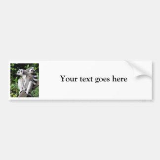 Lemurによってリング後につかれるかわいい写真のカスタムなバンパーステッカー バンパーステッカー