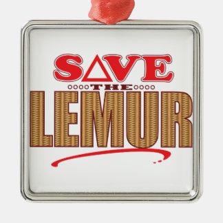 Lemurの保存 メタルオーナメント