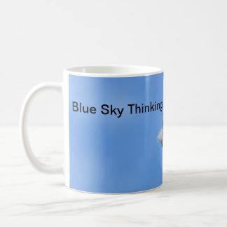 Lemurの青空の考えるでやる気を起こさせるなマグ コーヒーマグカップ