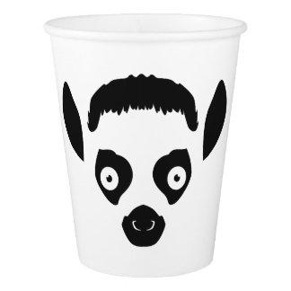 Lemurの顔のシルエット 紙コップ