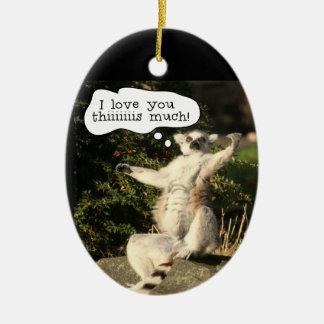 Lemur愛この大いにおもしろいな父の日 セラミックオーナメント