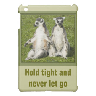 Lemur氏及び夫人-堅く握り、決して放さないで下さい iPad Mini カバー