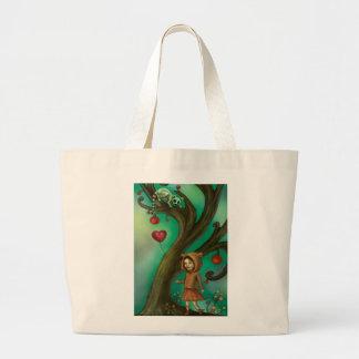 Lemursを愛する女の子 ラージトートバッグ
