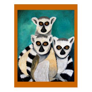 lemurs ポストカード