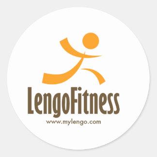 Lengoのロゴのギア ラウンドシール