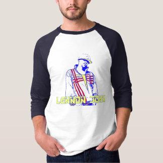 lennonのジョンの音波のワイシャツ2 tシャツ