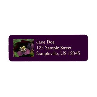 Lentenバラのイースター紫色の花 ラベル