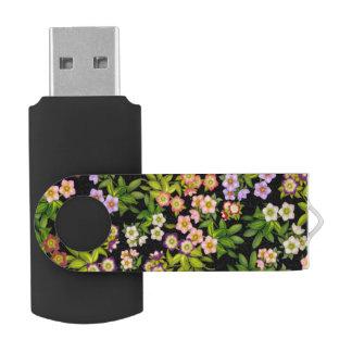 Lentenバラのヘレボルスの花USB 64GBのフラッシュドライブ USBフラッシュドライブ