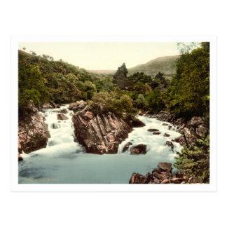 Leny、スターリング、スコットランドの滝 ポストカード