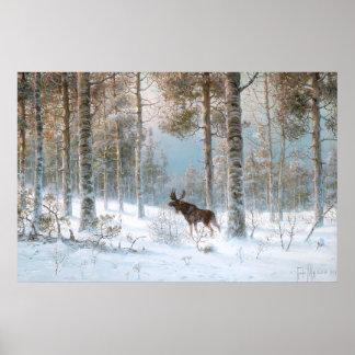 Leodinovich: 森林のオオシカ ポスター