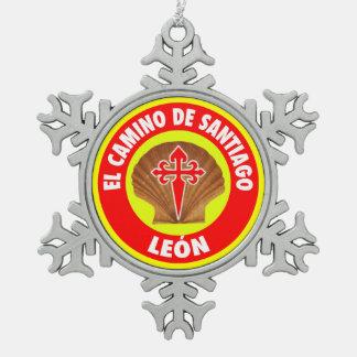 León スノーフレークピューターオーナメント