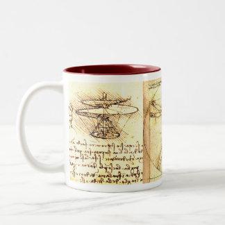 Leonado Da Vinciのスケッチ2 ツートーンマグカップ