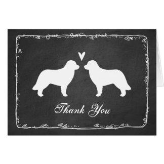 Leonbergerのシルエットの結婚は感謝していしています カード