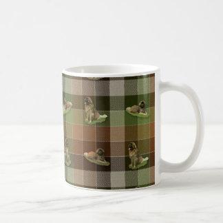 Leonbergerのタータンチェック コーヒーマグカップ