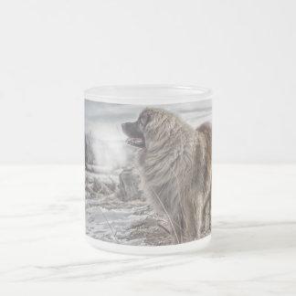 Leonbergerの冷えた霜の降りたなマグ フロストグラスマグカップ