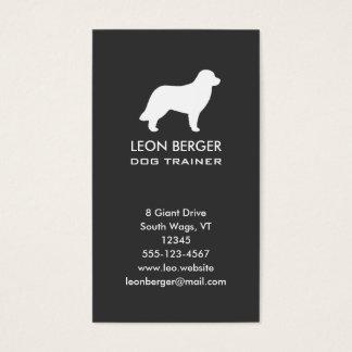 Leonberger犬のシルエット 名刺