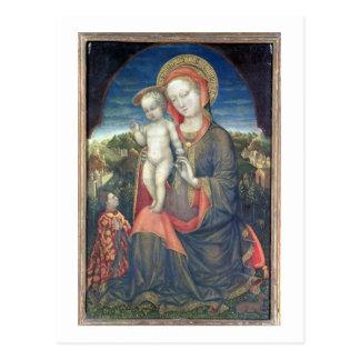 Leonelloのd'Esteによって崇拝される謙遜のマドンナ ポストカード