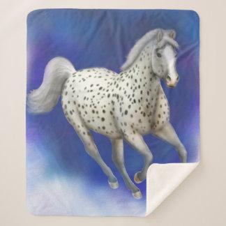Leopard Appaloosa Horse Sherpa Blanket シェルパブランケット