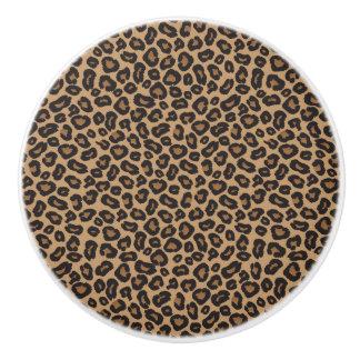 Leopard Brown and Black Pattern セラミックノブ