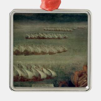 Lepantoの戦い、1571年10月7日 メタルオーナメント