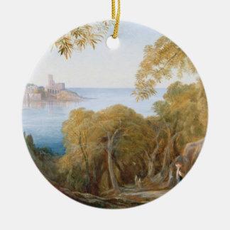 Lerici 1880年の意見のT33412景色 セラミックオーナメント