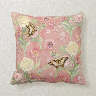 Lesのフルーアのシャクヤクのばら色のチューリップのアイリス花柄の花 クッション