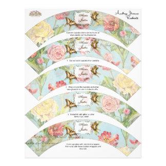 Lesのフルーアのシャクヤクのばら色のチューリップの花柄の花の結婚 チラシ