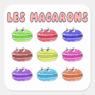 Lesのマカロンのかわいい漫画 スクエアシール