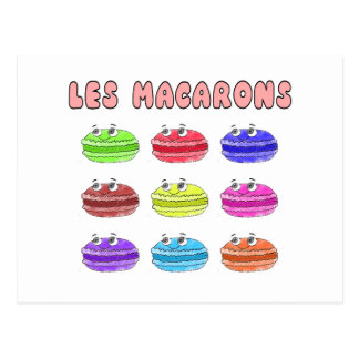 Lesのマカロンのかわいい漫画 ポストカード