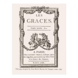 Lesの優美、パリ1769年 ポストカード
