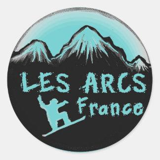 Lesはフランスの芸術的なスキーヤー弧光を発します ラウンドシール