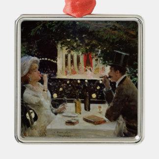 Les Ambassadeurs、c.1882の夕食 メタルオーナメント