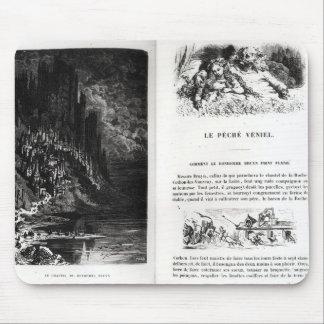 「Les Contesの2つの図解入りの、写真付きのなページ マウスパッド