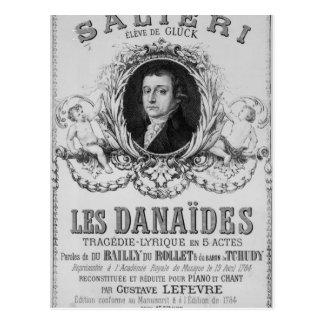 「Les Danaidesのための広告 ポストカード