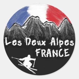 Les Deux Alpesフランスのスキーヤー ラウンドシール