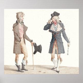 Les Incroyables - Vernetの版木、銅版、版画の再生 ポスター