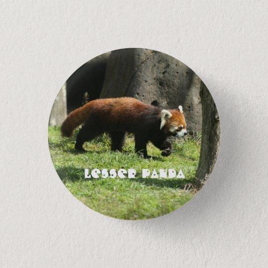 Lesser panda 3.2cm 丸型バッジ